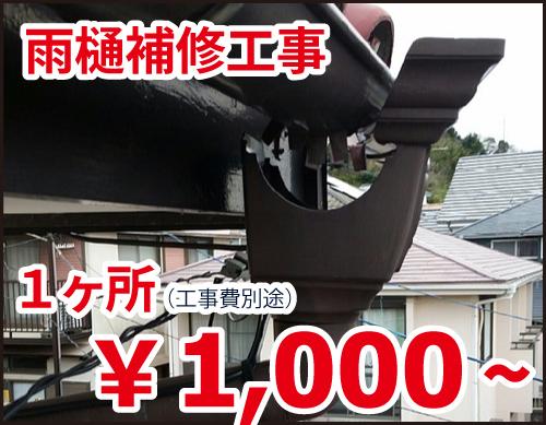 雨樋補修工事 一箇所1000円