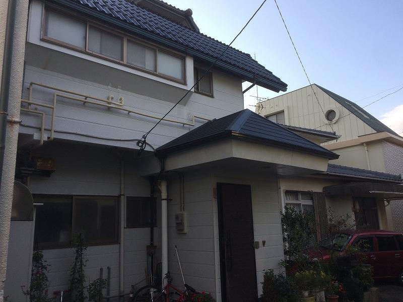 玄関屋根改修工事後